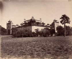Sikandra. Akbar's Tomb. General view of tomb from the south-west